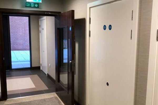 Royal Arsenal apartments communal fire doors