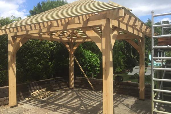 Bespoke built garden pergola